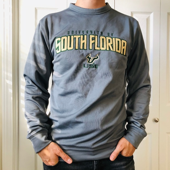 ce7ebe74 Champion Shirts | Usf Bulls Grey Gold Pullover Sweatshirt | Poshmark